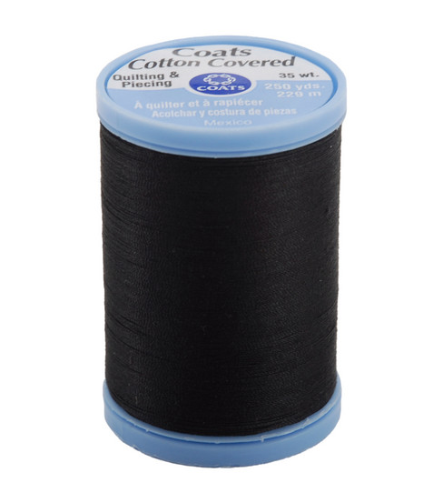 Coats & Clark Cotton Covered Quilting & Piecing Thread 250 Yards , 900 Black