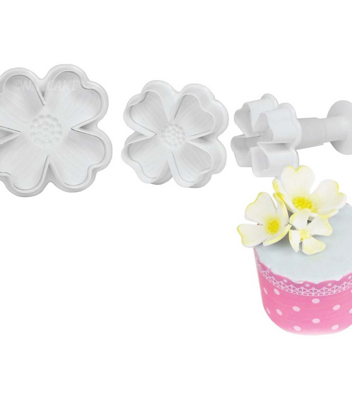 NY Cake Plunger Cutters 3/Pkg-Dogwood