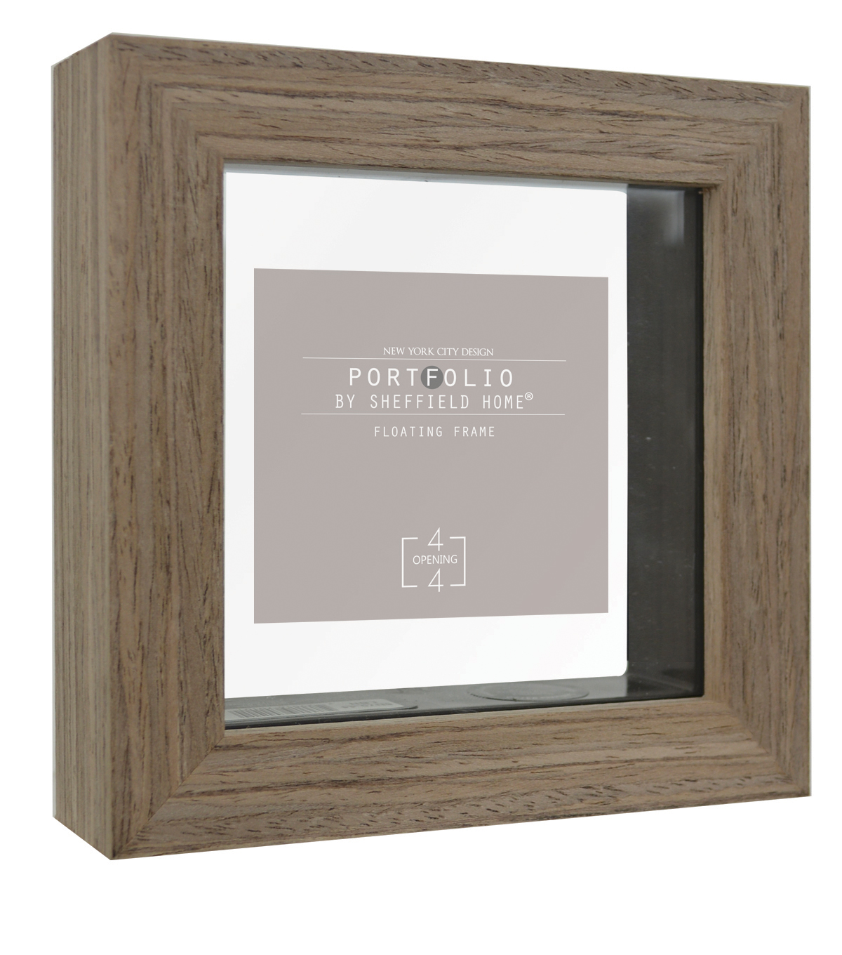 Sheffield Home Portfolio Casual Rustic Floating Frame 4\u0027\u0027x4\u0027\u0027