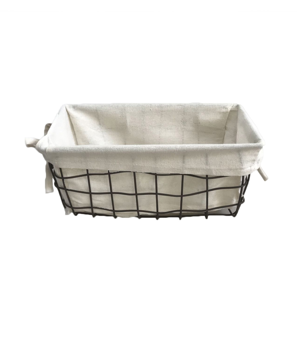 Organizing Essentials 11\u0027\u0027x6\u0027\u0027 Wire Basket with Ivory Liner