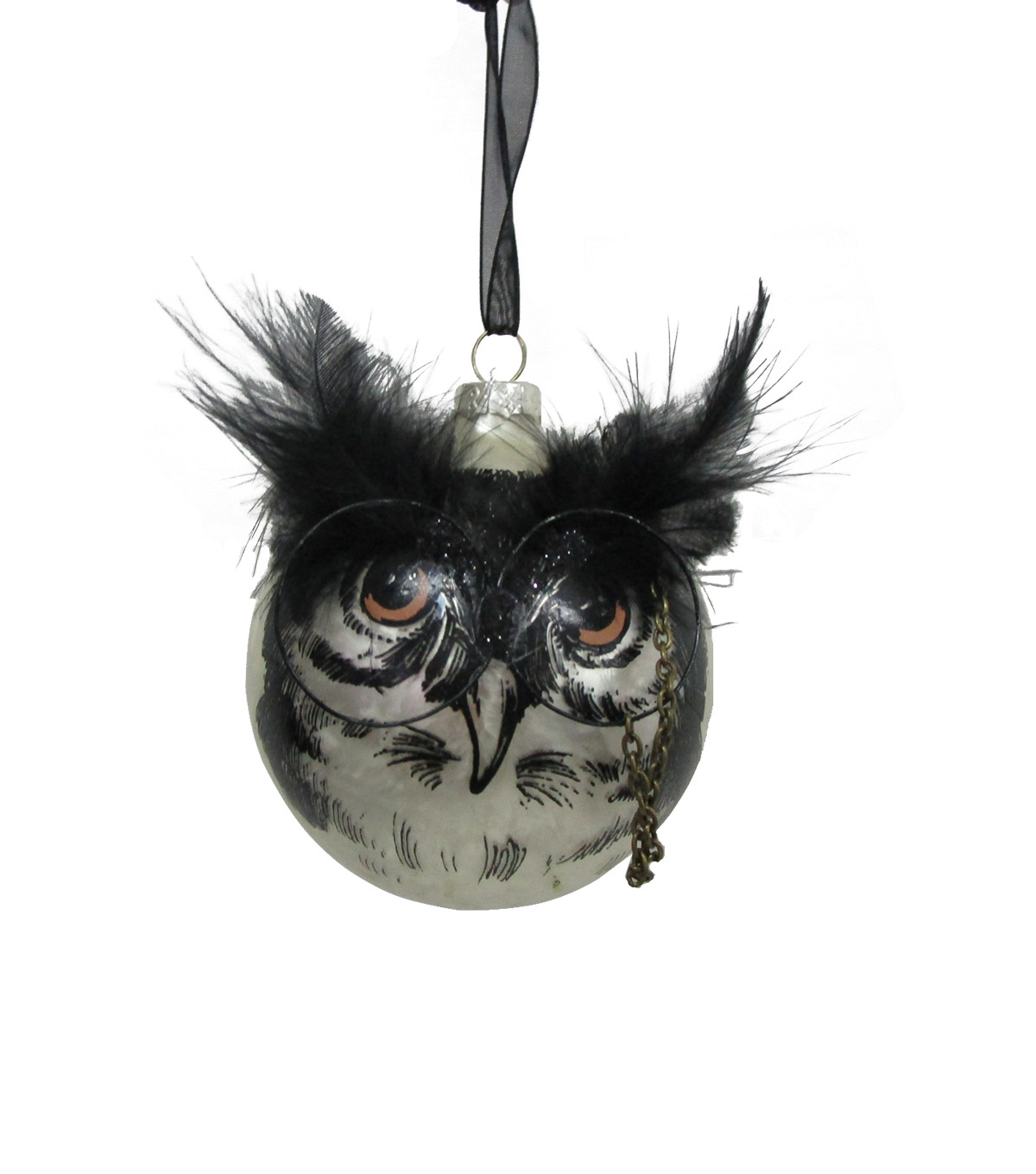 Maker\u0027s Halloween Owl Ornament with Glasses