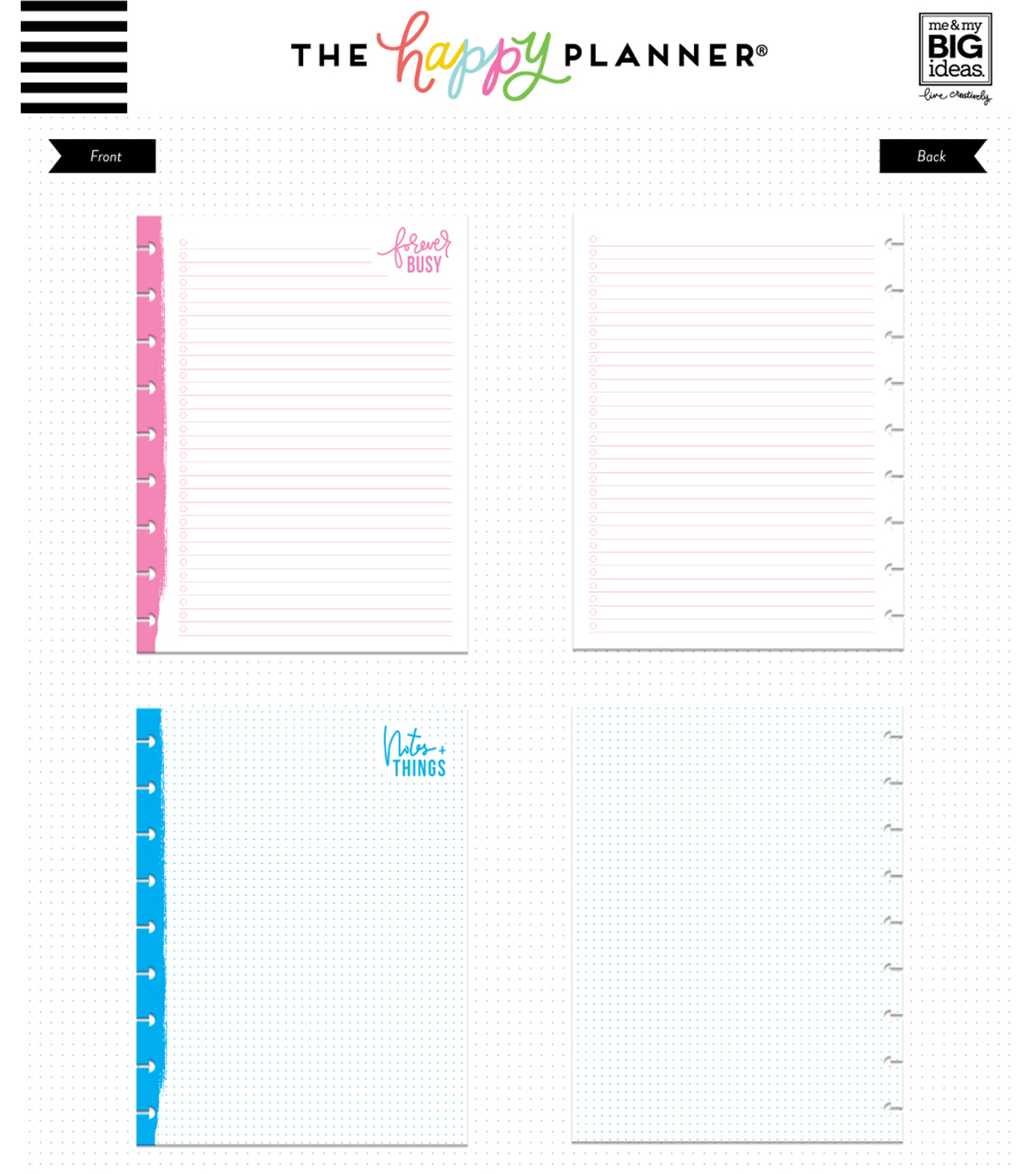 The Happy Planner Classic Note Papers-Forever Busy