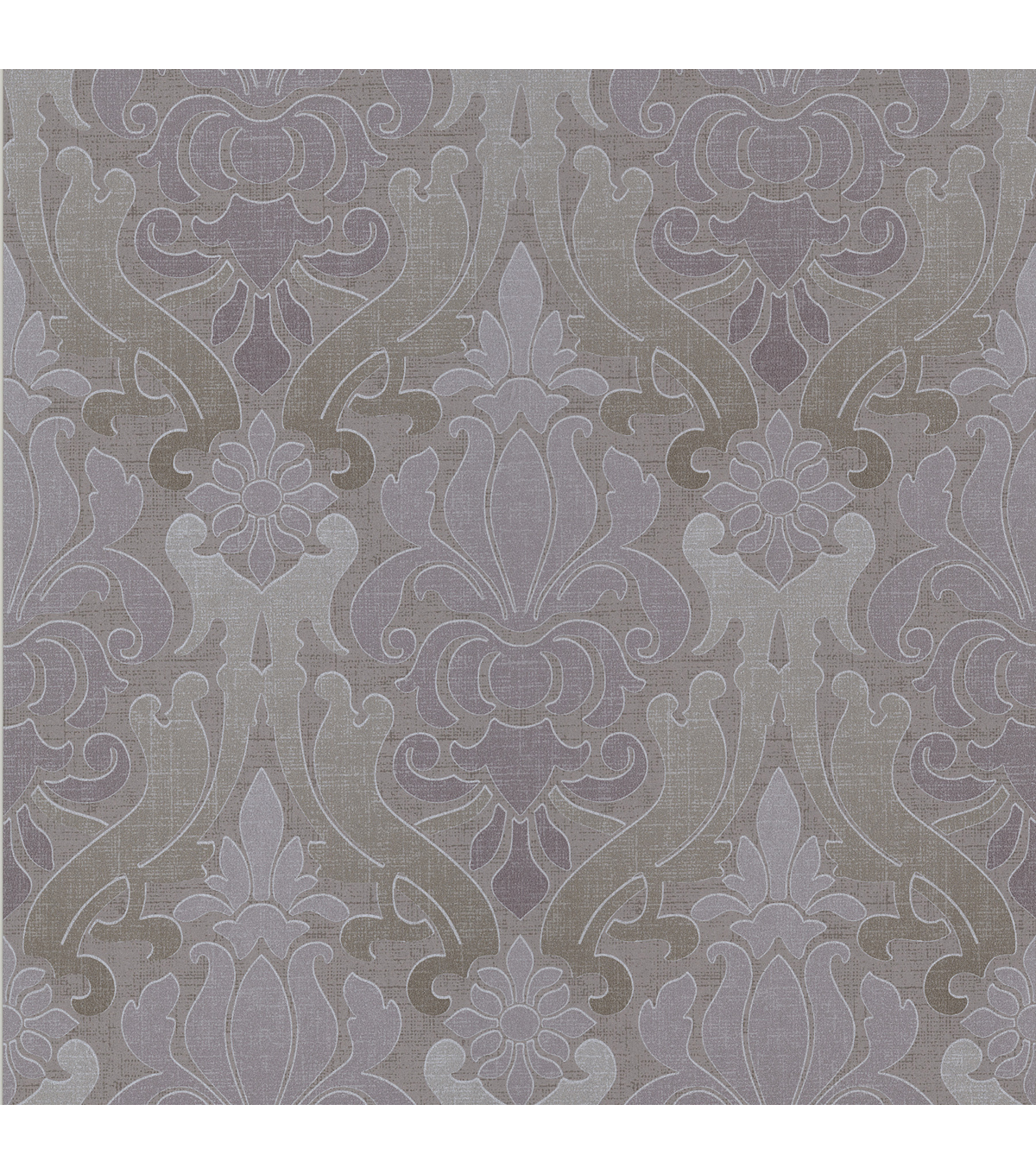 Aquitaine Purple Nouveau Damask  Wallpaper Sample
