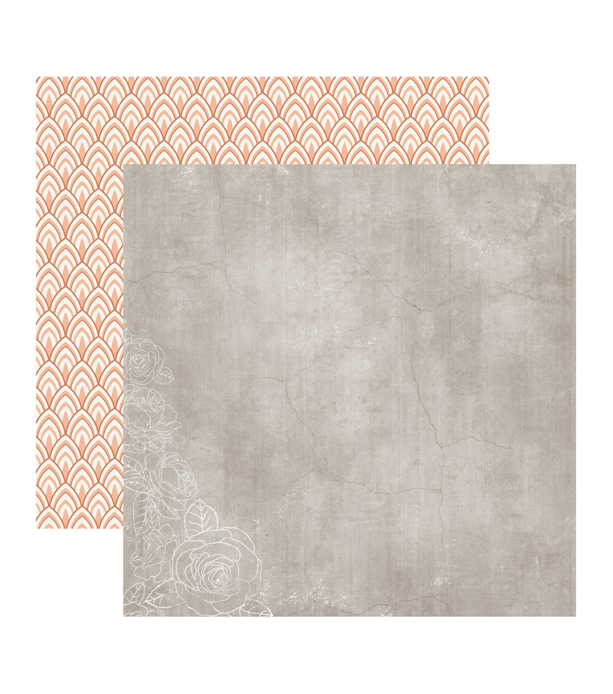Peachy Double-Sided Cardstock 12\u0022X12\u0022-Aura