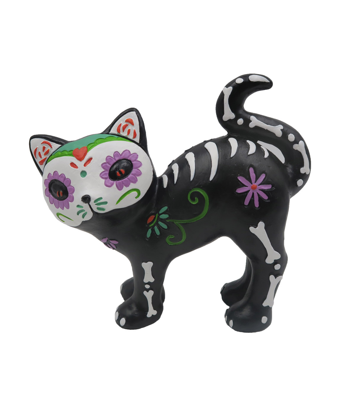Maker\u0027s Halloween Resin Cat Critter-Day of the Dead