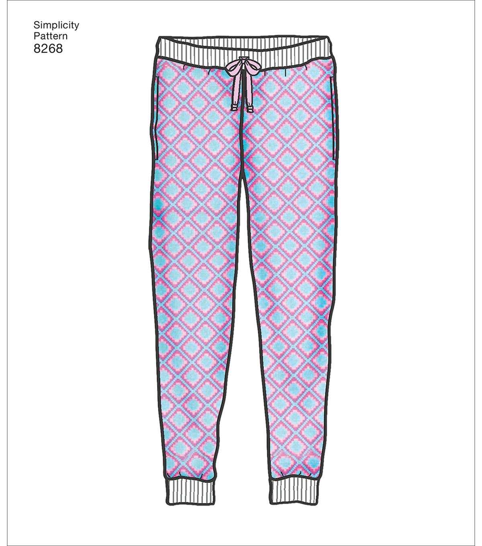 19db600f17ad7 Simplicity Pattern 8268 Children's Teens & Adults Jogger-Size A (XS-XL)