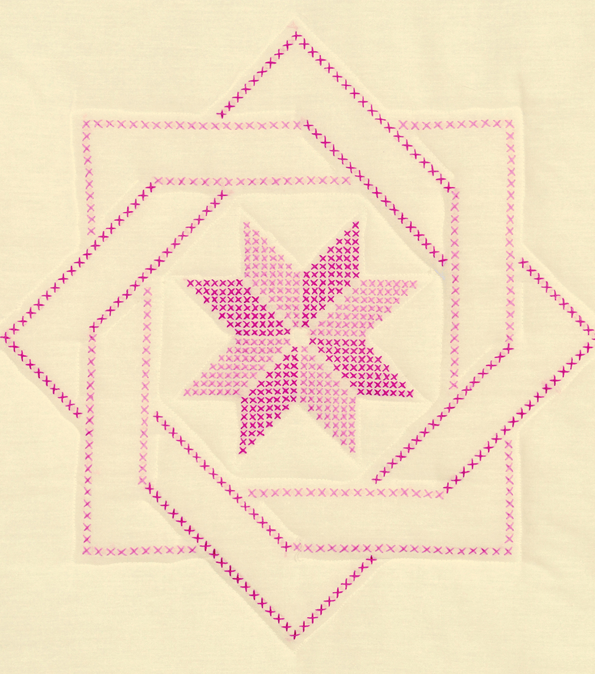 Jack Dempsey Needle Art 6 pk 18\u0027\u0027x18\u0027\u0027 Antique Quilt Block-XX Woven Star