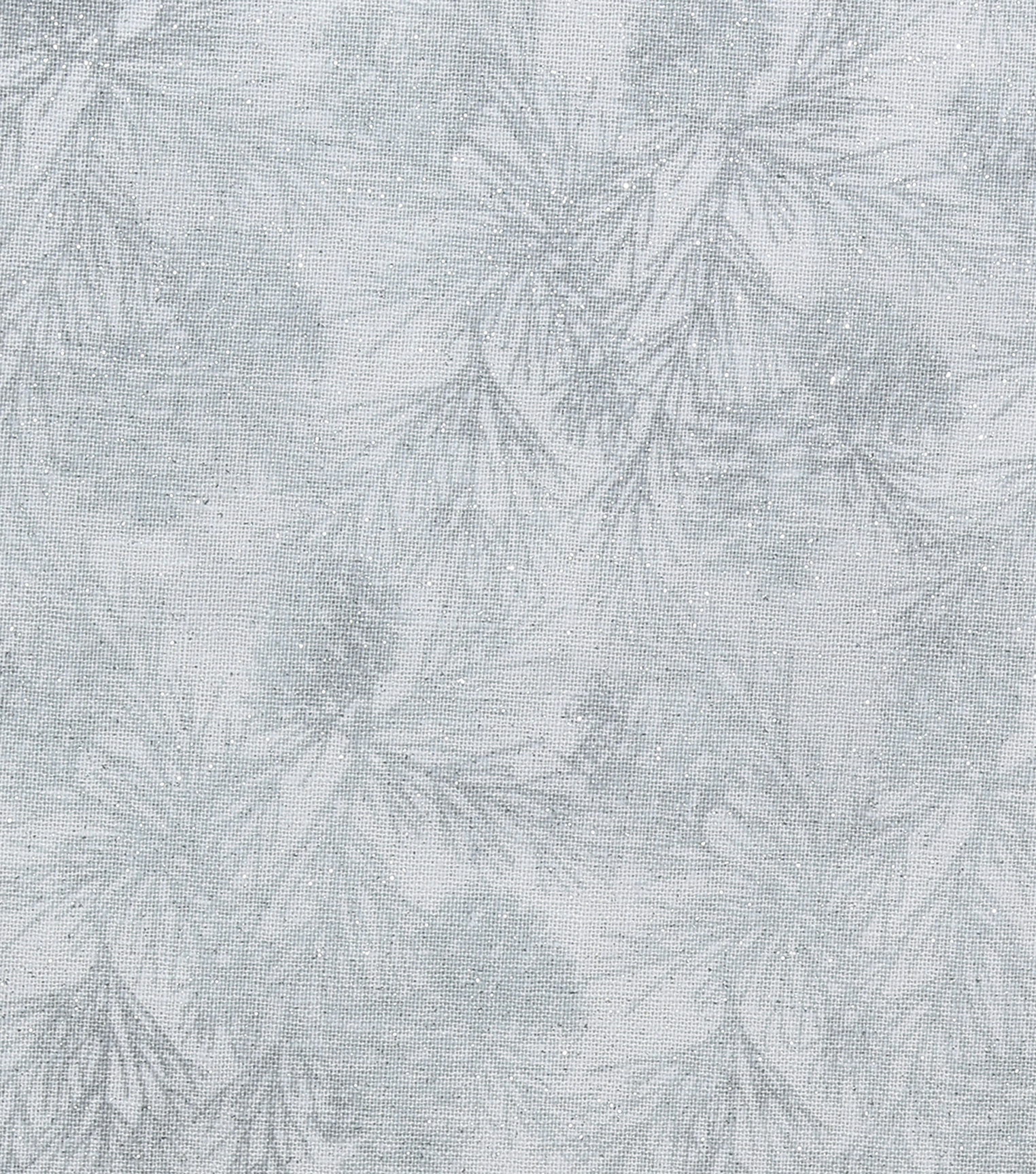 Christmas Cotton Fabric-Pinecone Fir White Glitter
