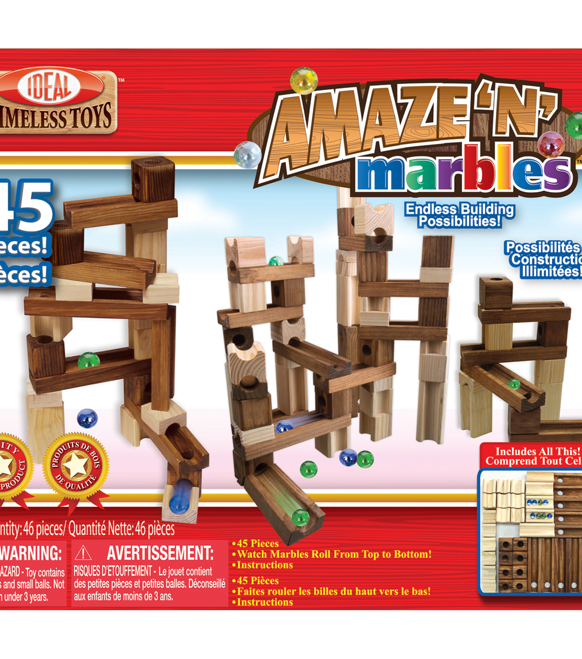 Ideal Amaze ???N??? Marbles Classic Wood Construction Set