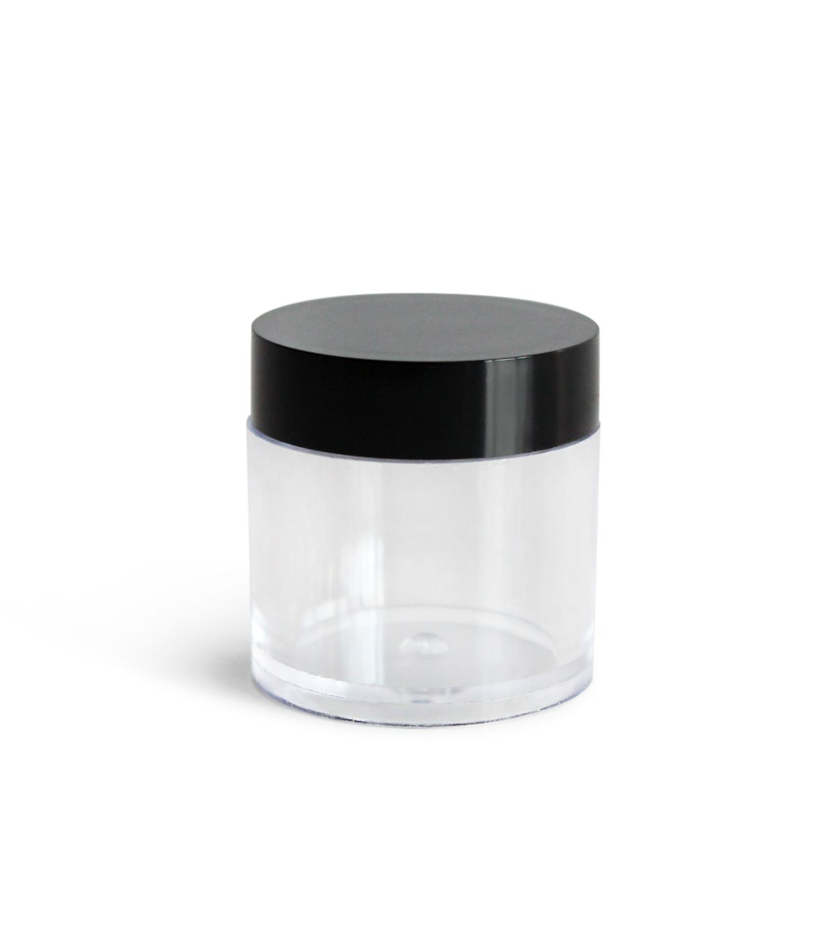 Fab Lab Round Plastic Containers with Black Lids 12/Pkg