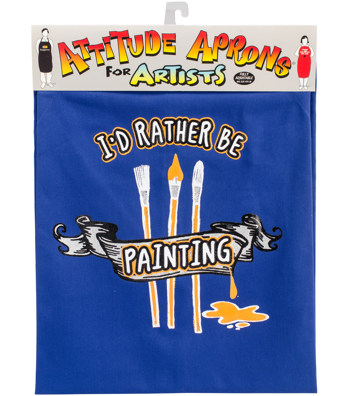 Attitude Artist Apron Blue-I\u0027d Rather Be Painting