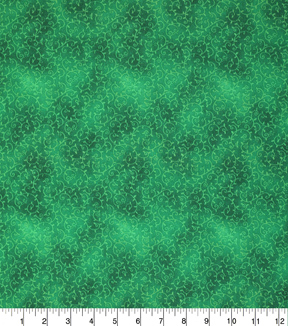 St. Patrick\u0027s Day Cotton Fabric-Green Ivy Swirls