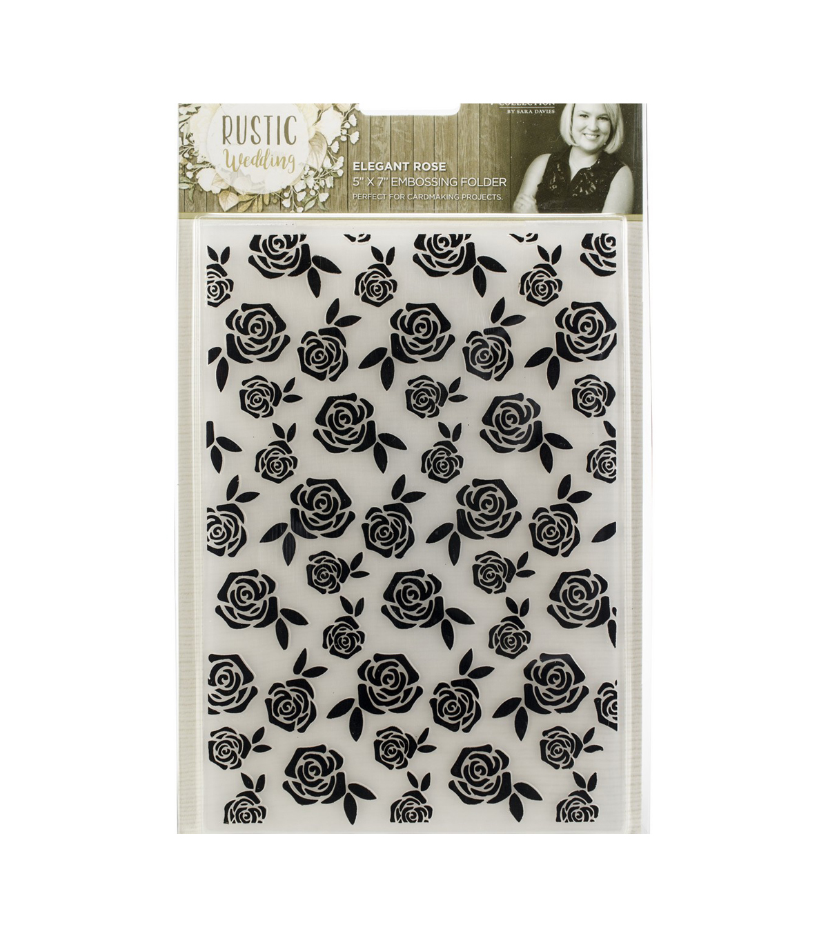 Crafter\u0027s Companion Rustic Wedding Embossing Folder-Elegant Rose