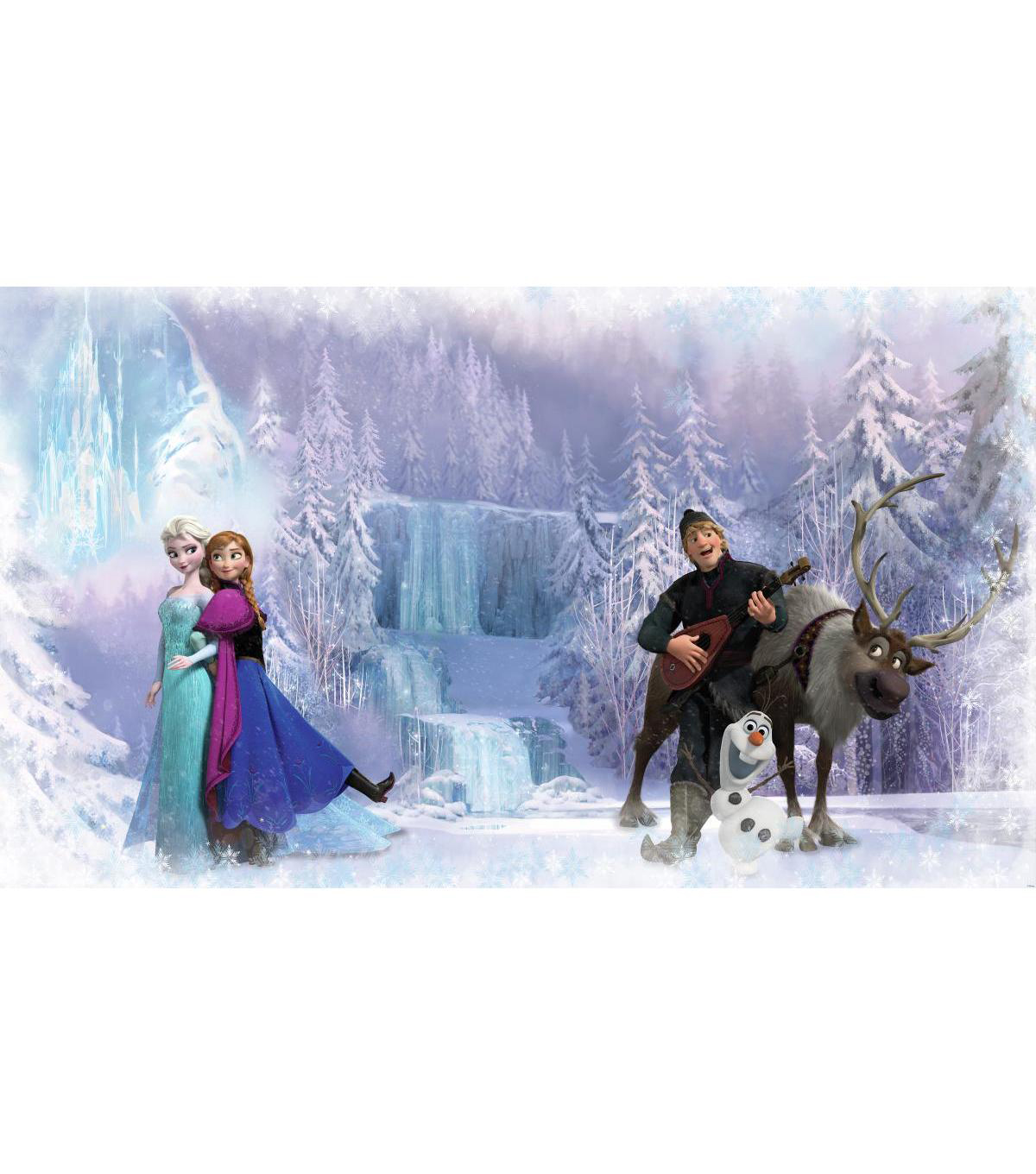 York Wallcoverings Pre Pasted Mural-Frozen Chair Rail
