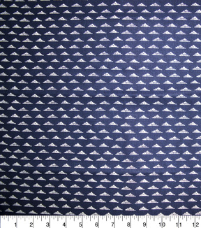 Quilter\u0027s Showcase Fabric -Triangle Geometric on Navy