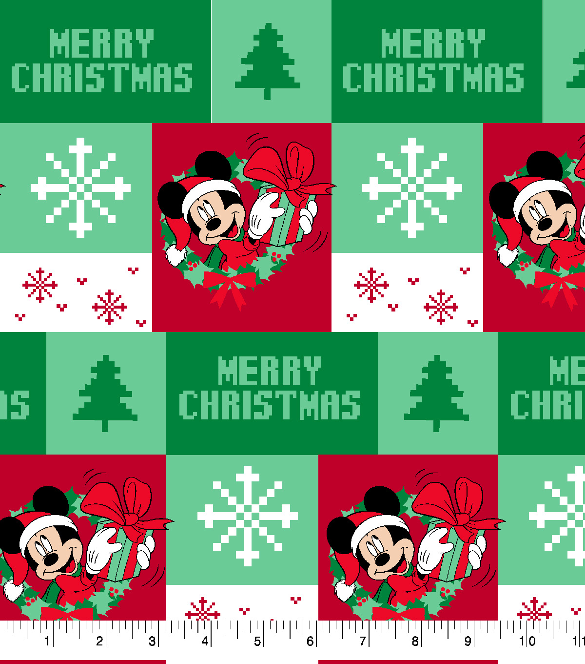 disney mickey mouse cotton fabric ugly sweater - Disney Christmas Fabric