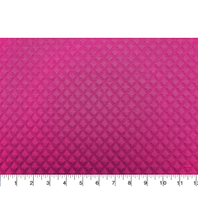 Knit Apparel Fabric -Boysenberry Quilted Diamond