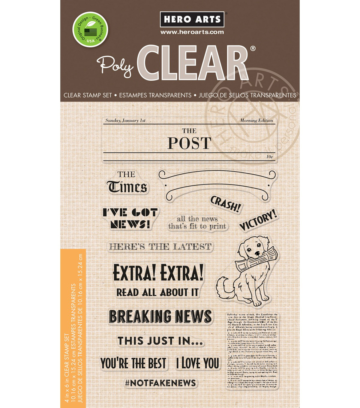 Hero Arts 15 pk Clear Stamps-Headline Messages