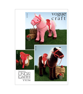 Vogue Patterns Crafts Animals-V9194