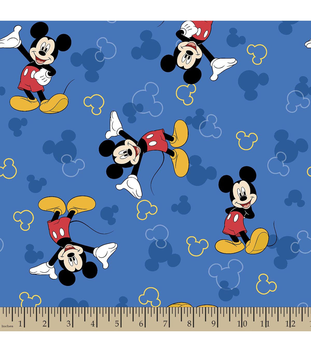Disney Mickey Mouse Print Fabric