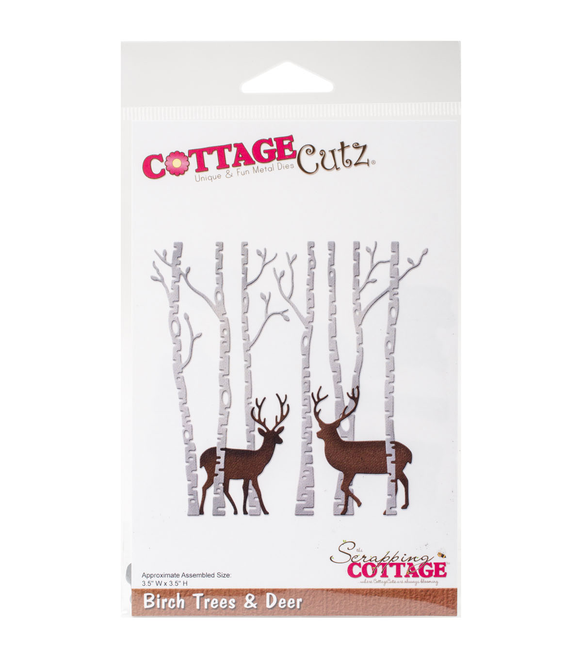 The Scrapping Cottage CottageCutz 3.5\u0027\u0027x3.5\u0027\u0027 Dies-Birch Trees & Deer