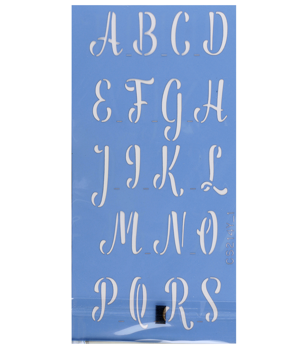 Stencil Ease 2 pk 1\u0027\u0027 Stencils-National Anthem Letter & Number