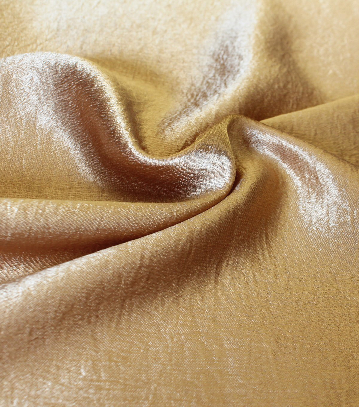 Casa Collection Crushed Satin Fabric 54\u0027\u0027-Gold