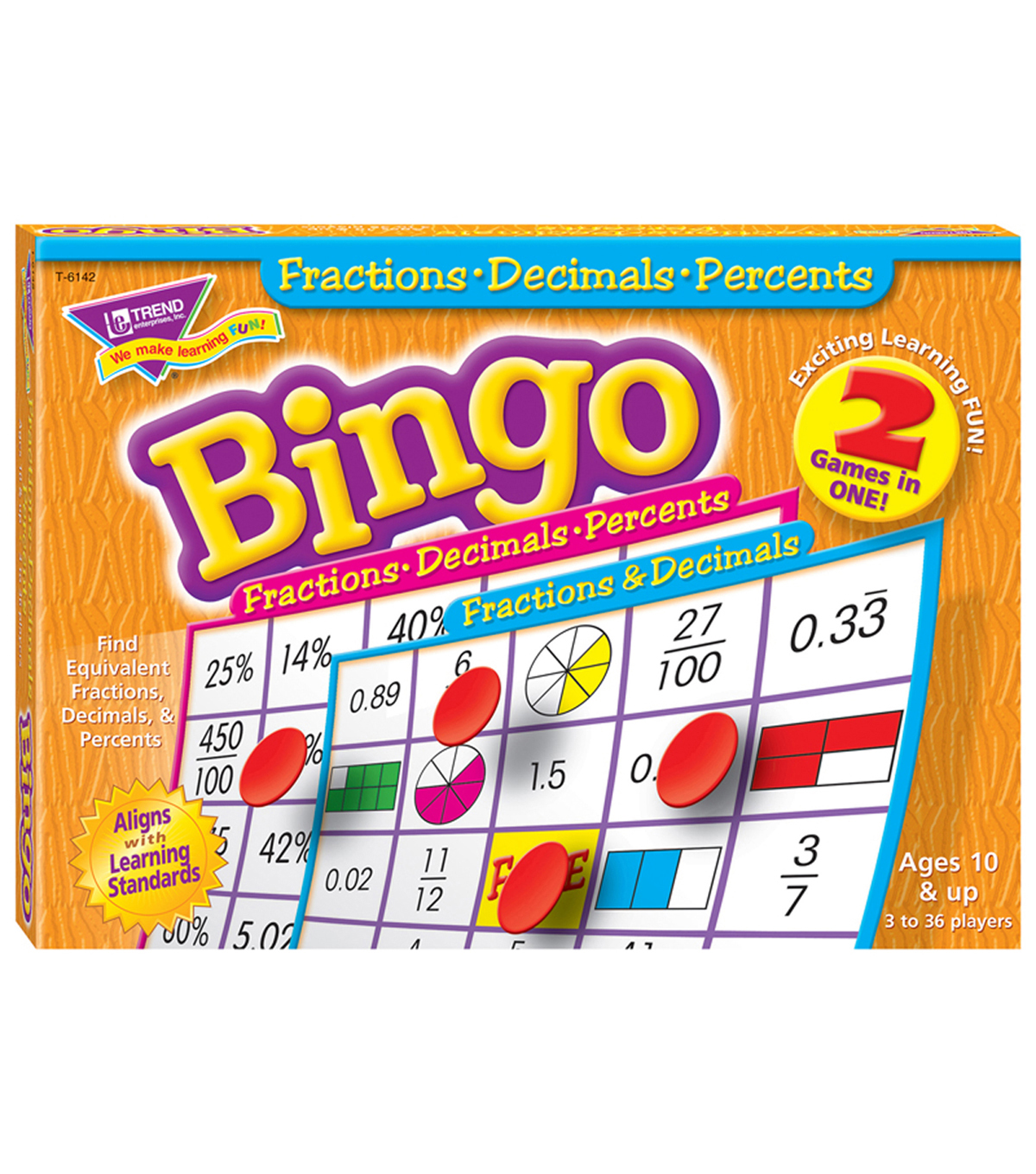 TREND enterprises, Inc. Fractions, Decimals, & Percents Bingo Game