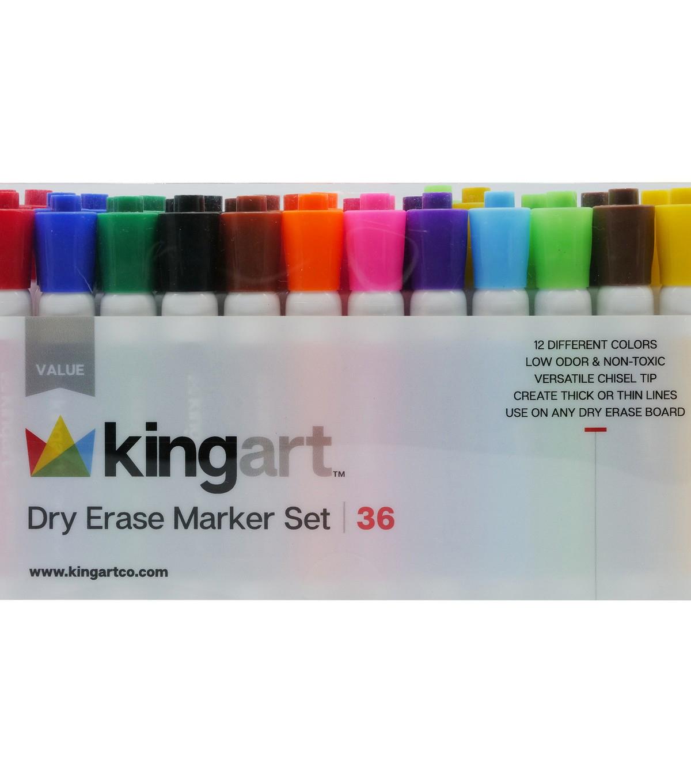 Kingart Dry Erase Marker Set 36pkg Joann