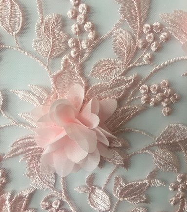 Gianna All Over 3D Embroidered Fabric 55\u0027\u0027