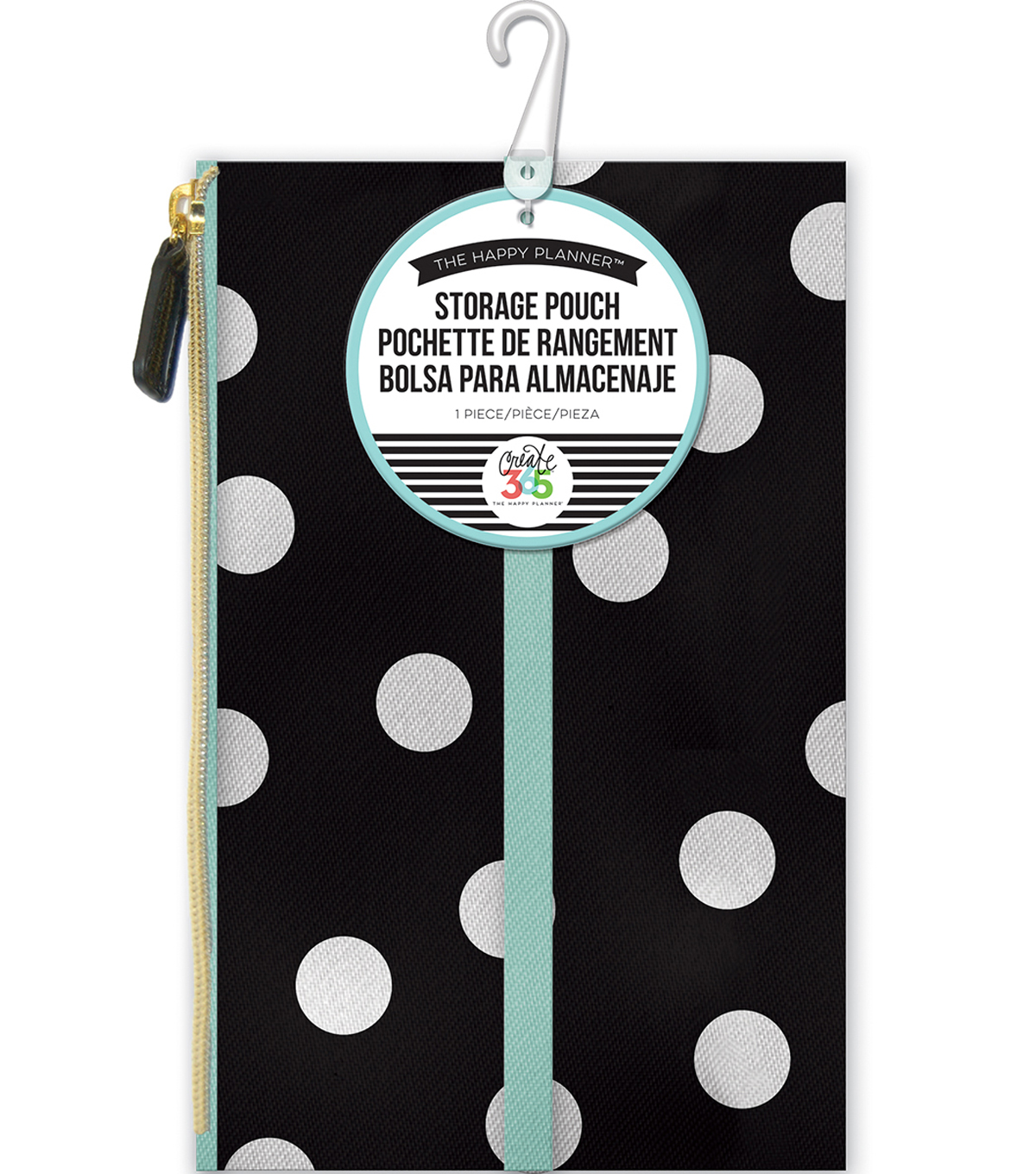 The Happy Planner Pouch-White Scattered Dot