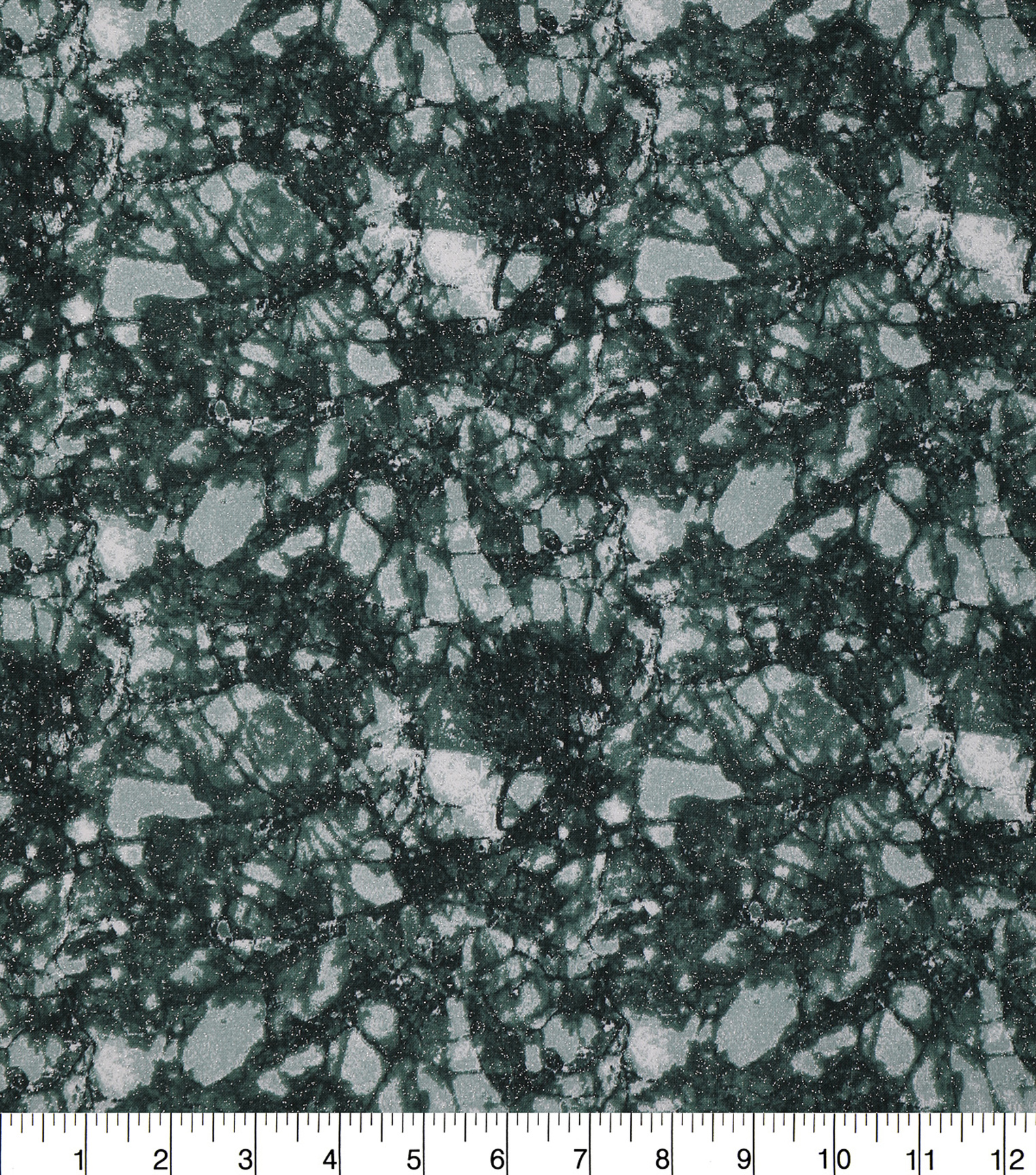 Keepsake Calico Glitter Cotton Fabric 43\u0027\u0027-Dark Green Snake Skin Crackle