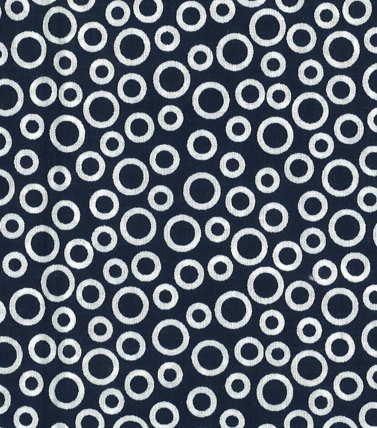 Quilter\u0027s Showcase Cotton Fabric -Circles on Navy