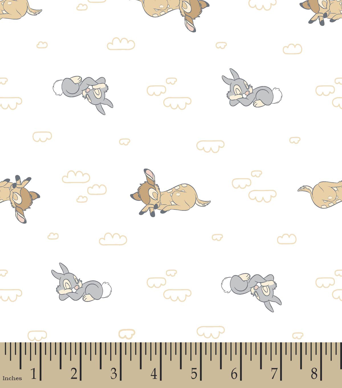 Nursery Flannel Fabric 42\u0022-Sweet Dream Bambi