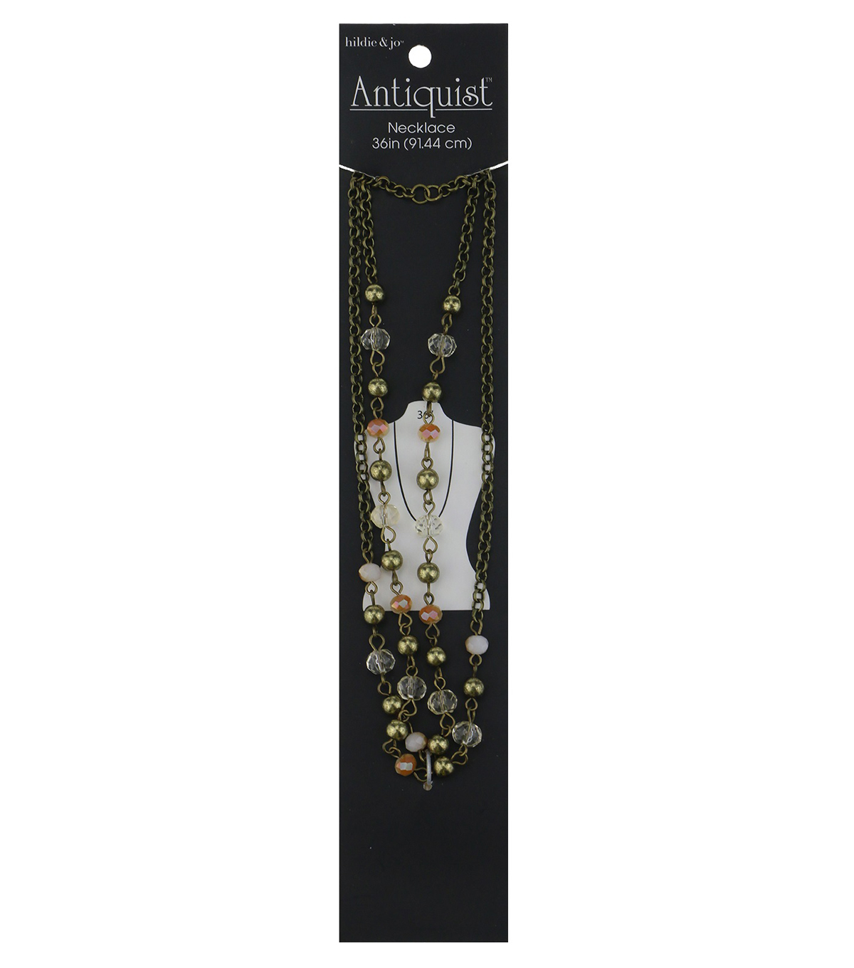 hildie & jo Antiquist 36\u0027\u0027 Antique Gold Necklace-Multi Beads