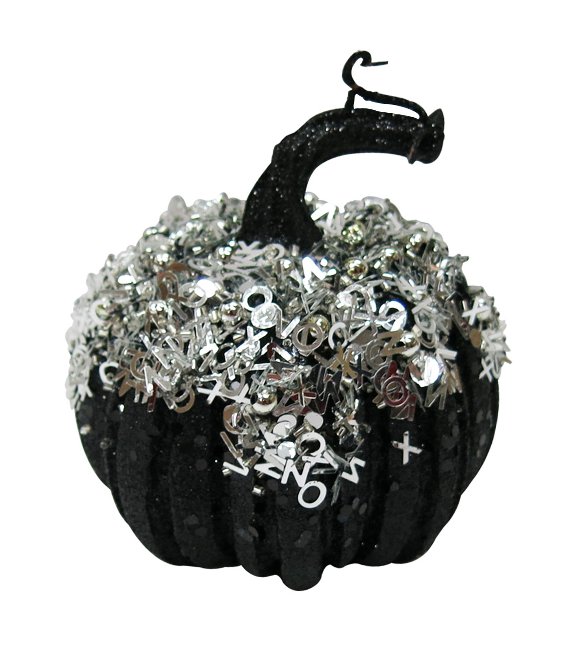 Maker\u0027s Halloween X-Small Black Silver Pumpkin