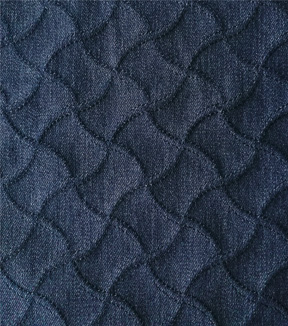 Denim Twill Fabric 53\u0027\u0027-Dark Blue Textured Wave