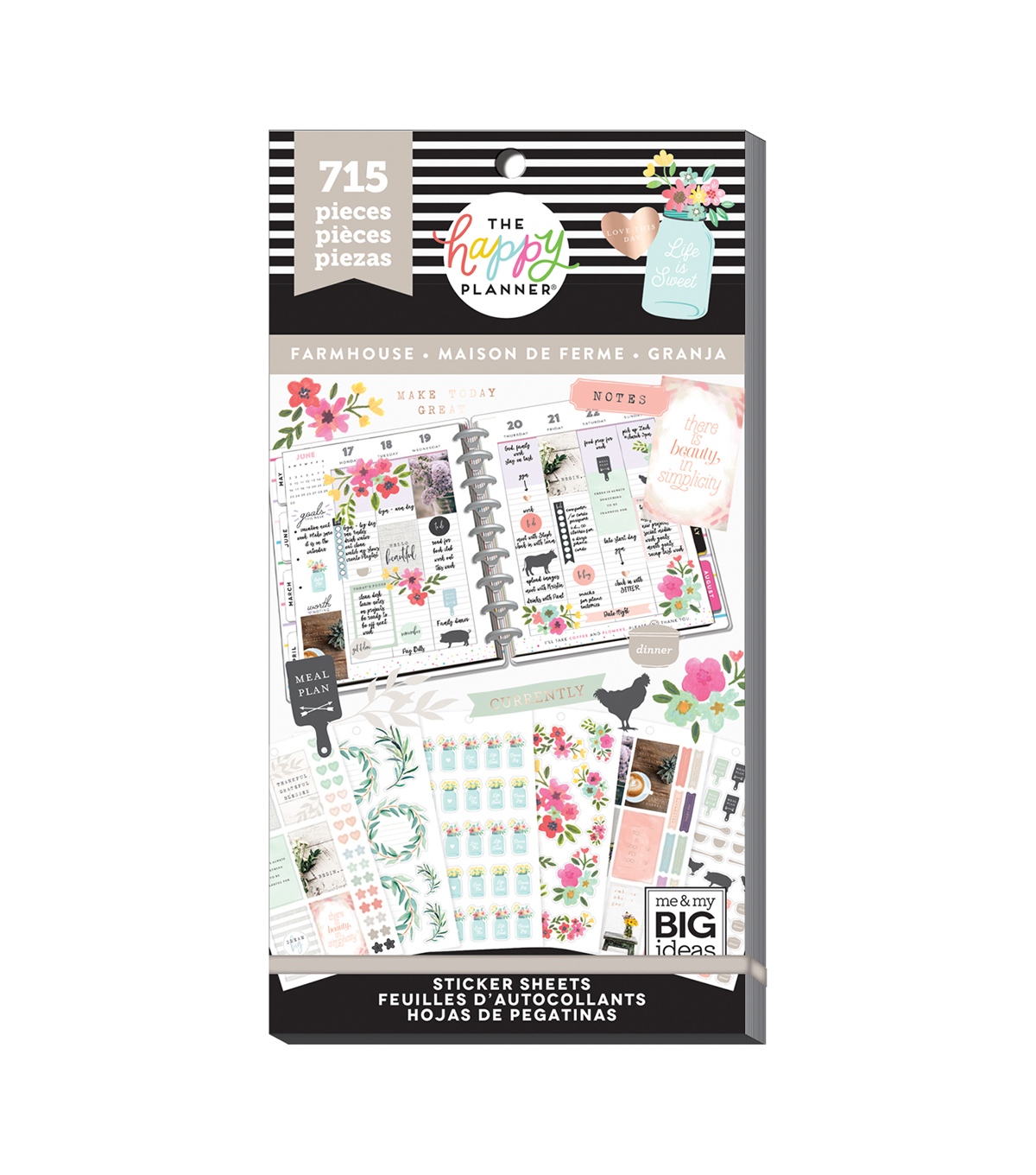 The Happy Planner 715 pk Stickers-Farmhouse