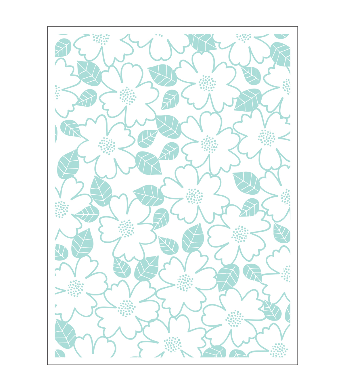 Park Lane A2 Embossing Folder-Flower Repeat
