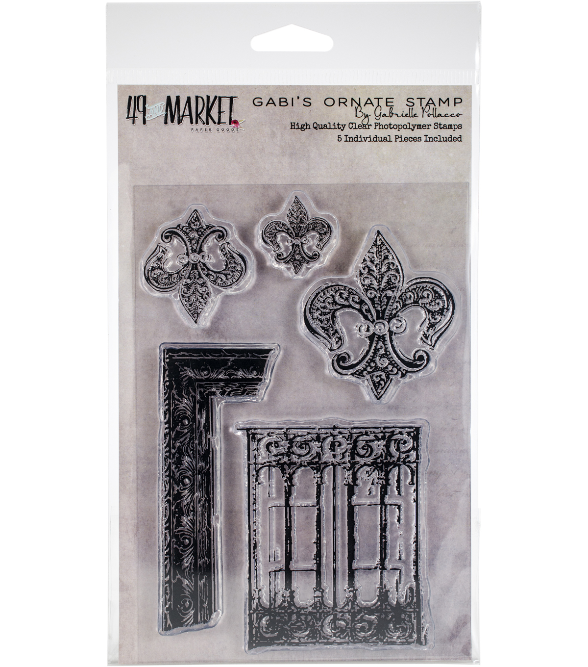 49 And Market Gabrielle Pollacco Clear Photopolymer Stamp-Gabi\u0027s Ornate