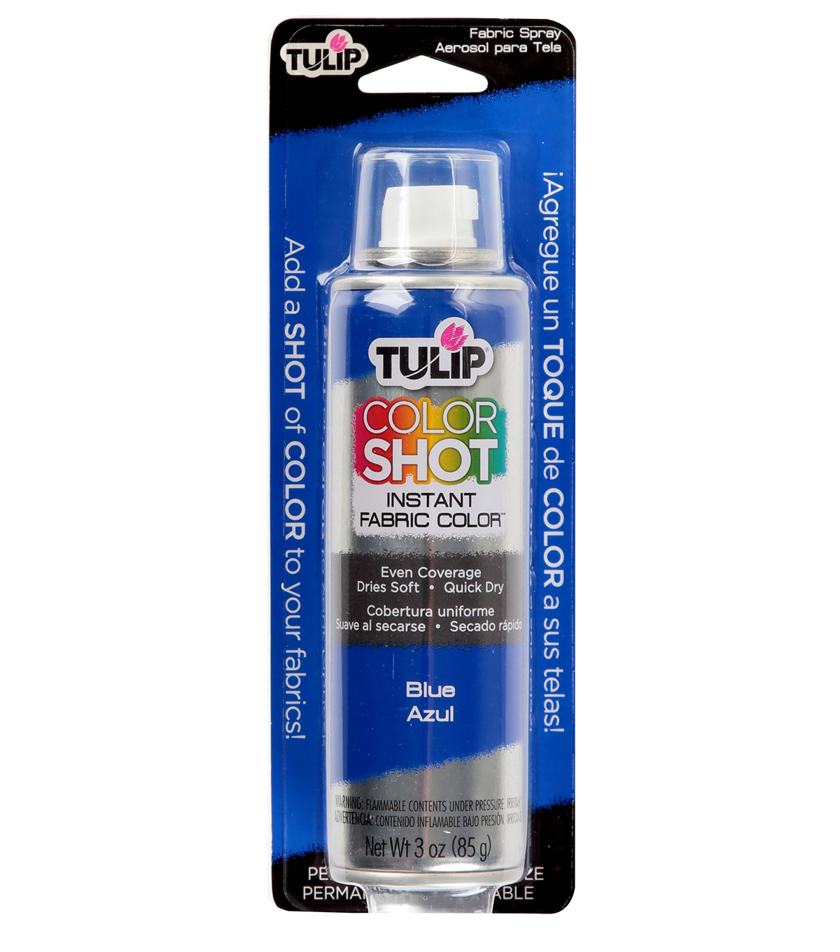 Tulip ColorShot Instant Fabric Color Spray 3oz, Blue