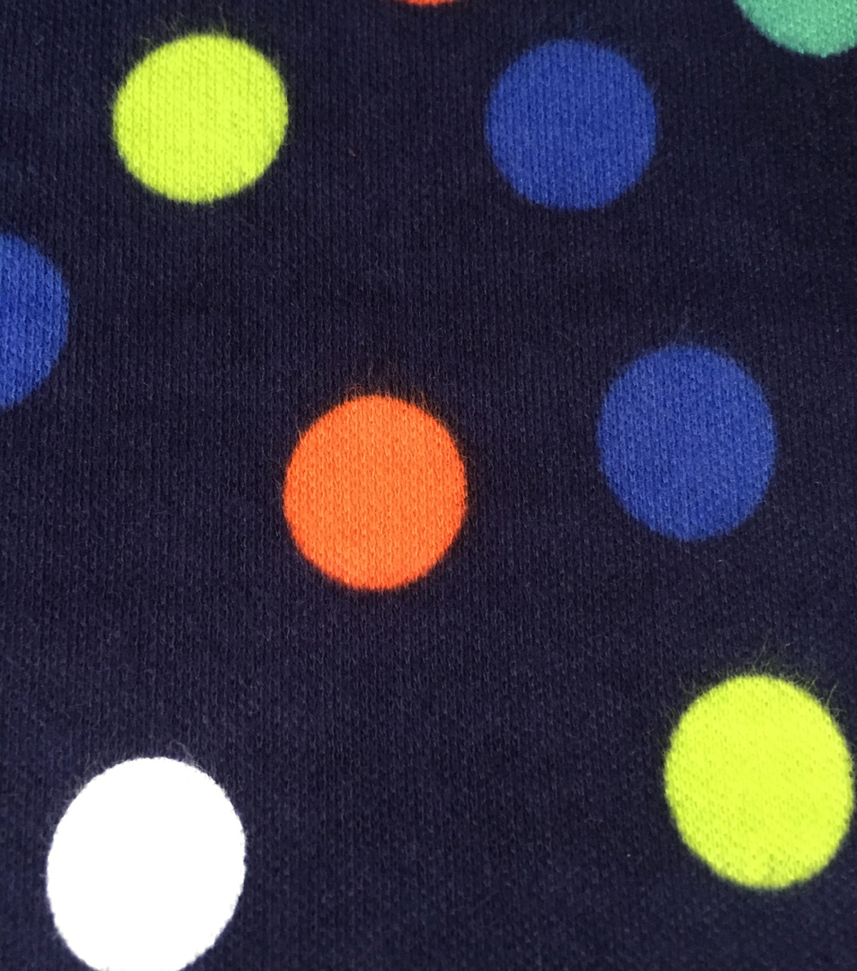 Doodles Juvenile Apparel Fabric 57\u0027\u0027-Dots on Navy