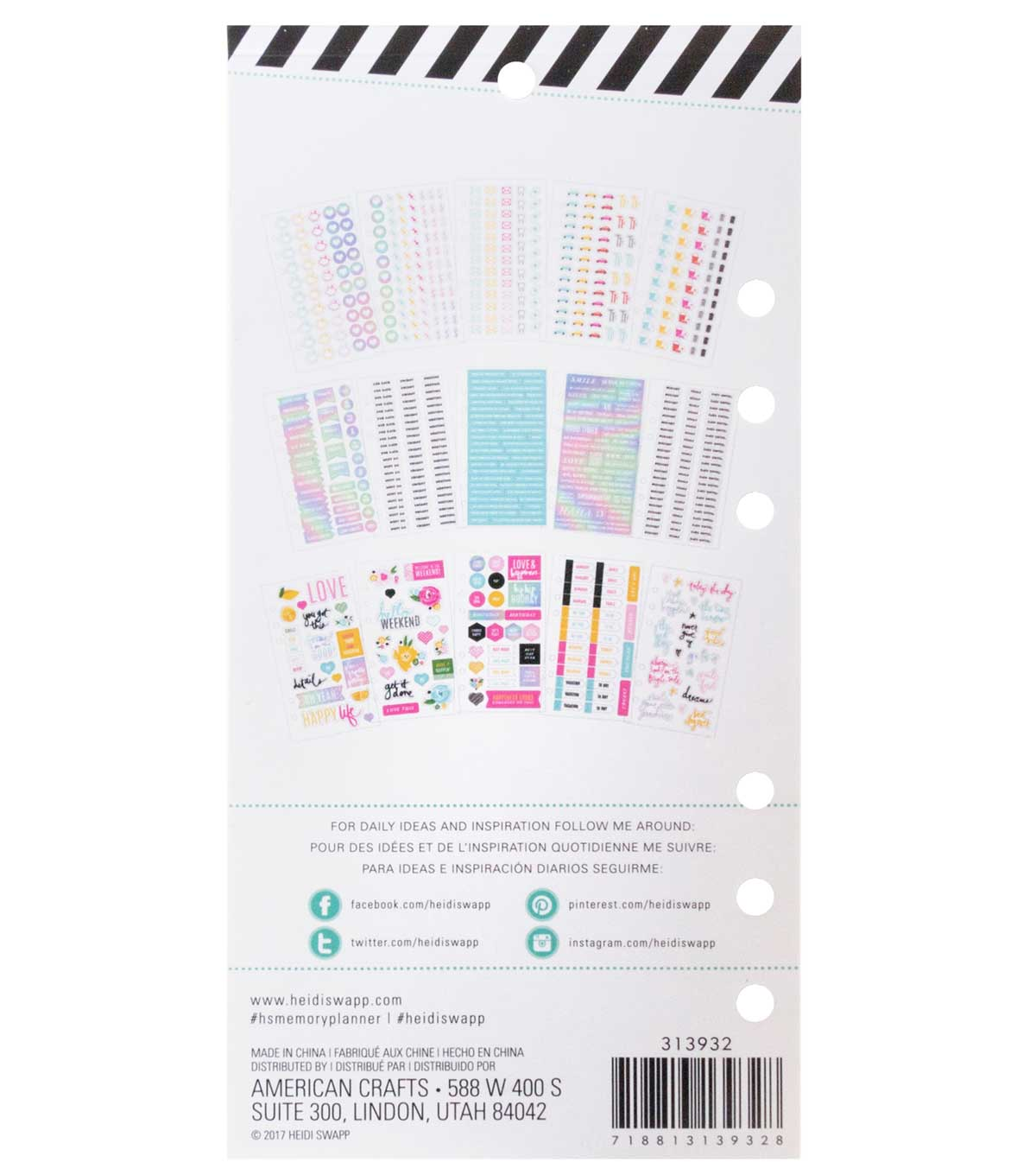 Heidi Swapp Fresh Start Cardstock Stickers-Play