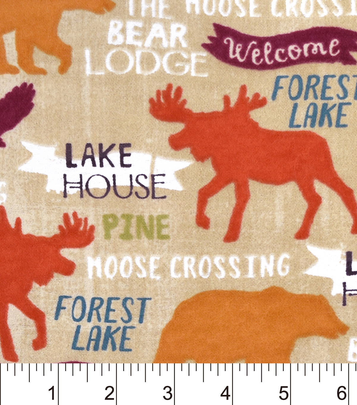 Snuggle Flannel Fabric 42\u0022-Forest Lake
