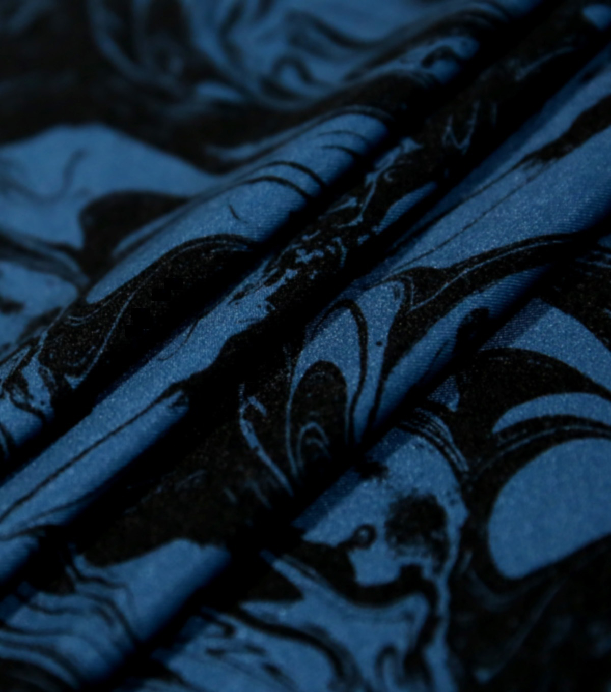 Loungeletics Performance Fabric-Blue & Black Marble