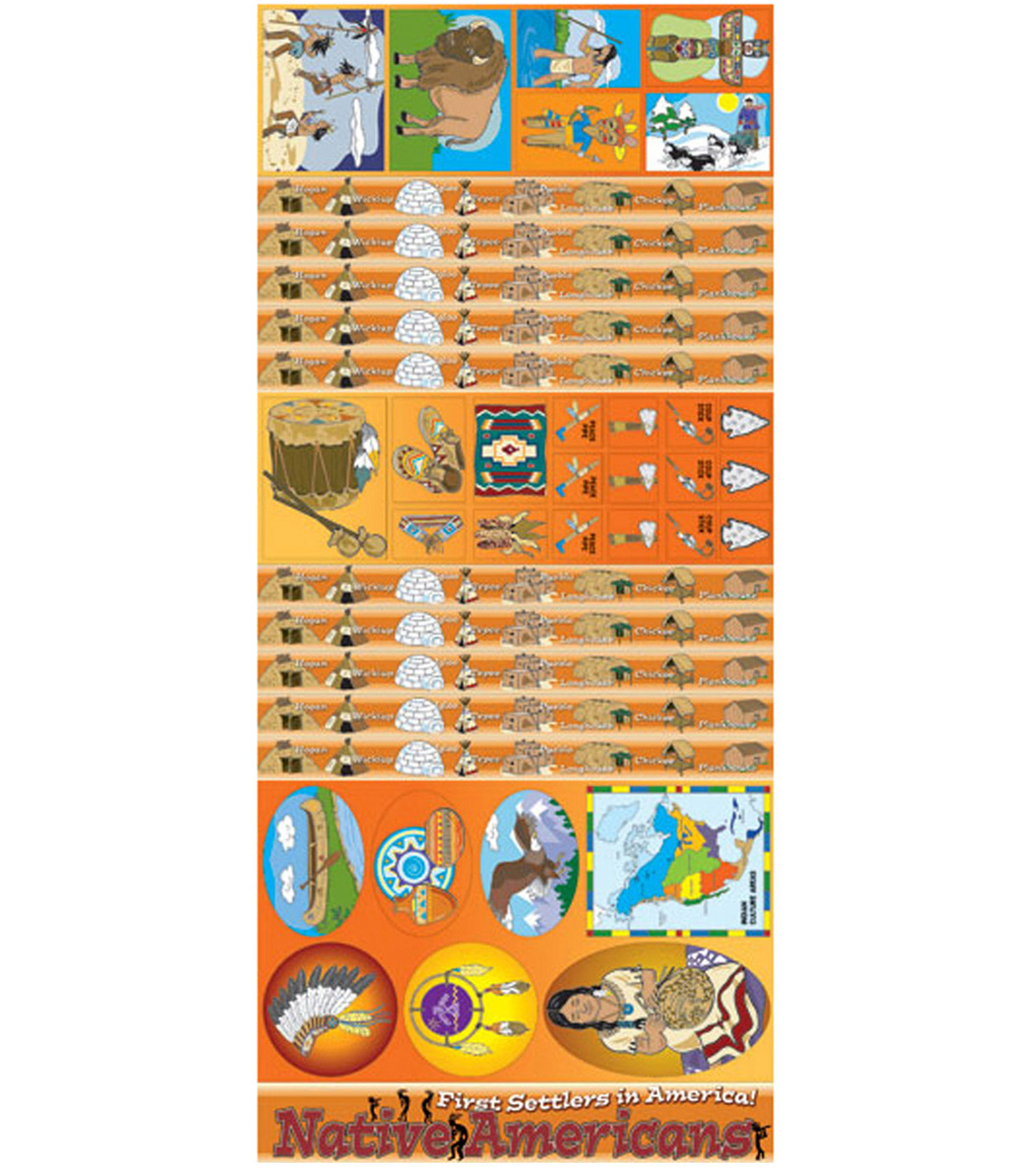 Native Americans All-In-One Bulletin Board Set