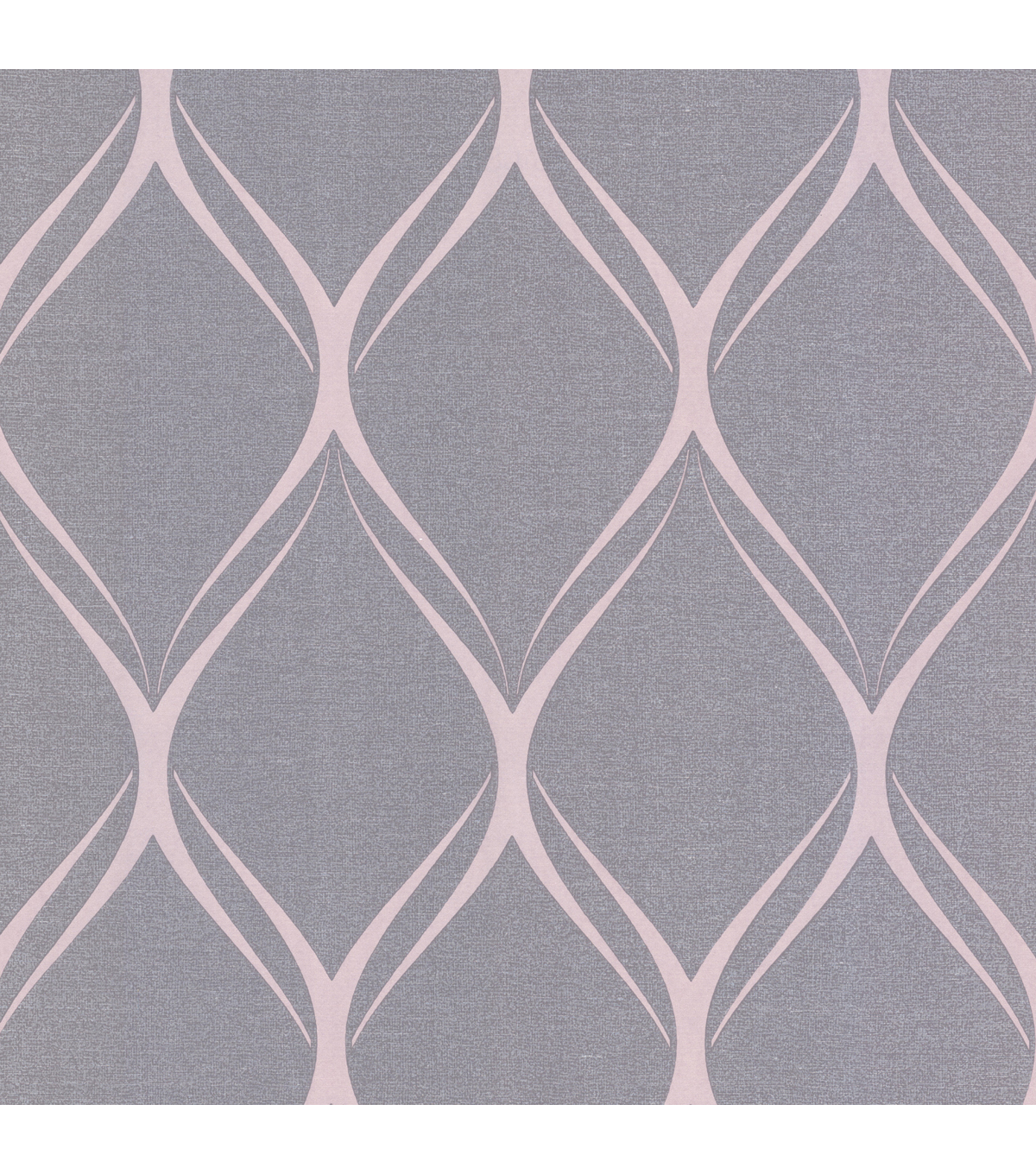 Gustav Purple Geometric Wallpaper Sample