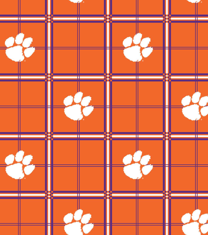 Clemson University Tigers Flannel Fabric 42\