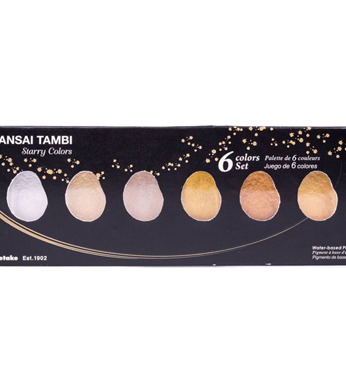 Kuretake Gansai Tambi 6 pk Color Set-Starry Colors