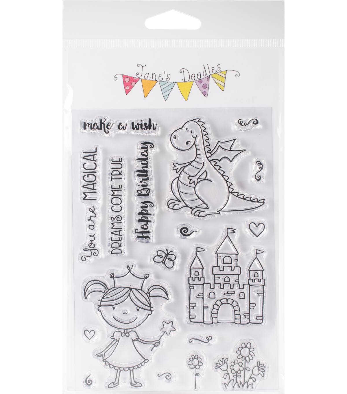 Jane\u0027s Doodles 18 pk Clear Stamps-Magical